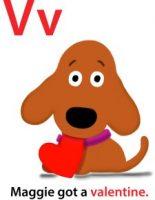 Maggie's ABC: letter V
