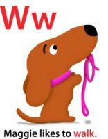 Maggie's ABC: letter W