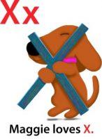 Maggie's ABC: letter X